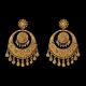 Gold Big Chandbali with Pearls