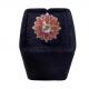 Lotus Pink Enamel Ring